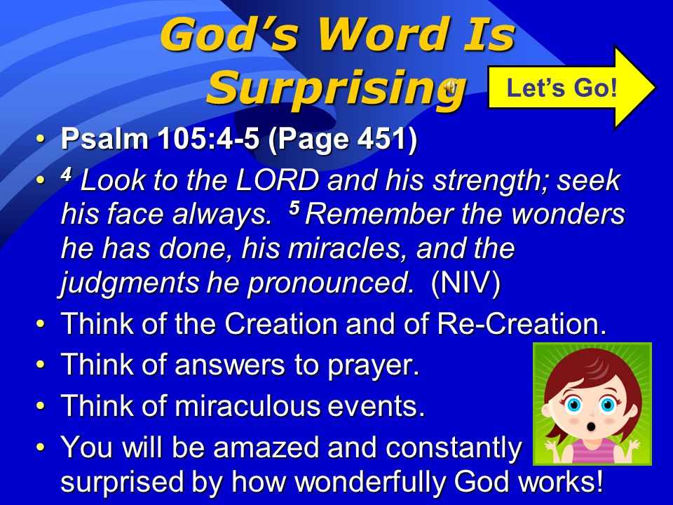 God's Word Is Surprising