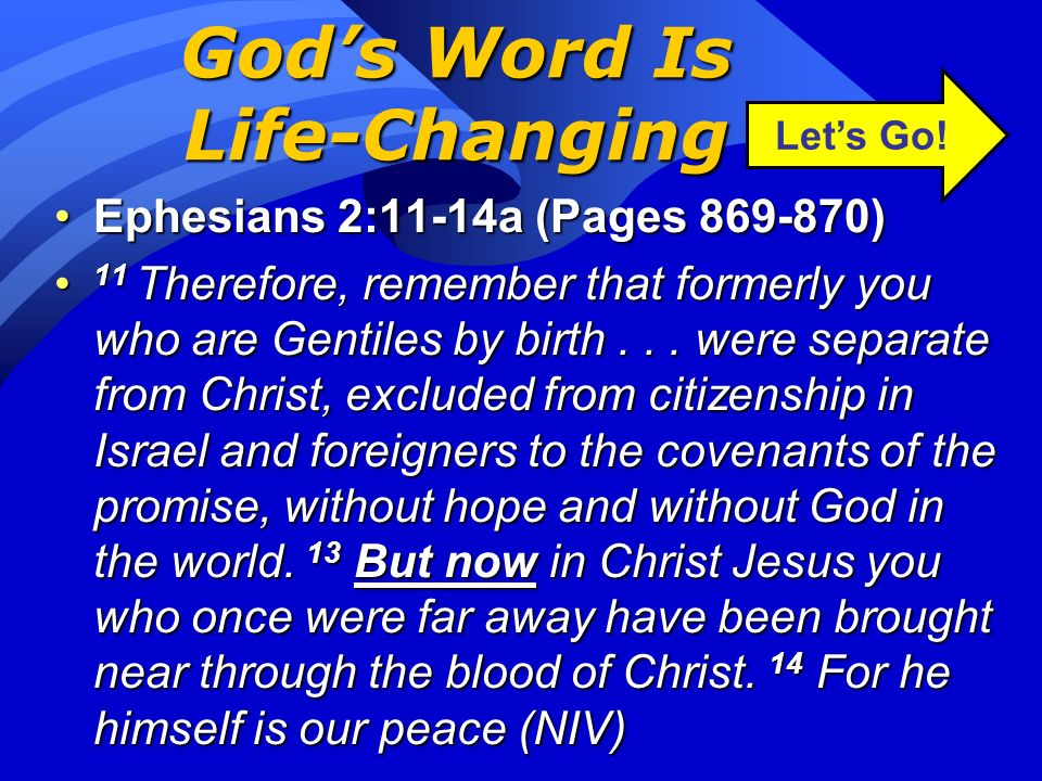 God's Word Is Life-Changing