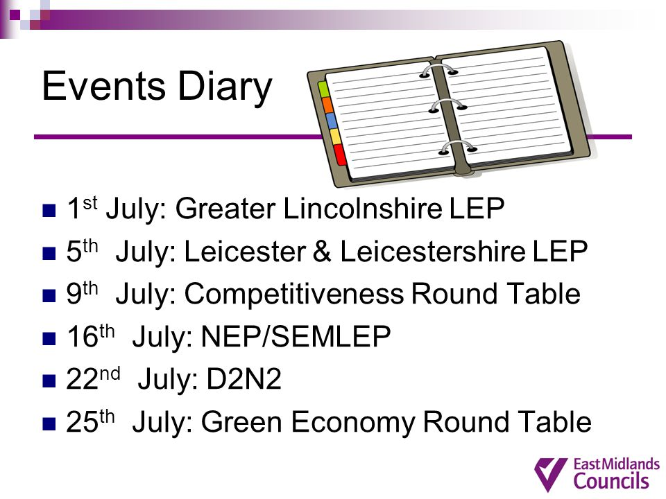Events Diary 1st July: Greater Lincolnshire LEP