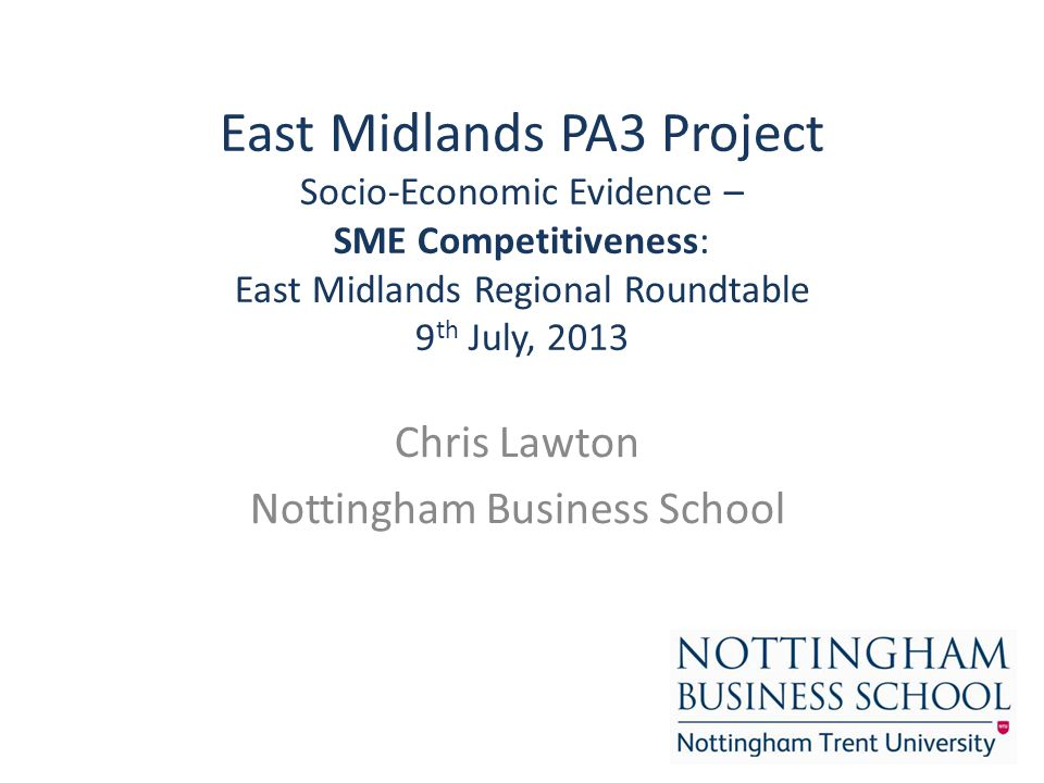 Chris Lawton Nottingham Business School