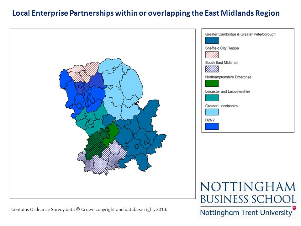 Local Enterprise Partnerships within or overlapping the East Midlands Region