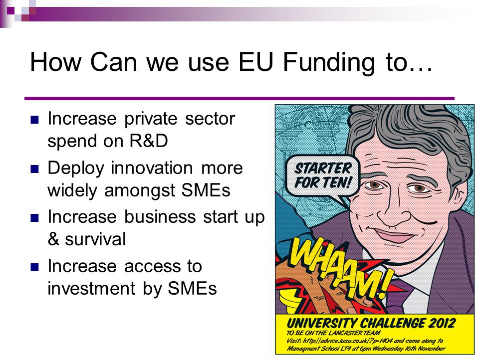 How Can we use EU Funding to…