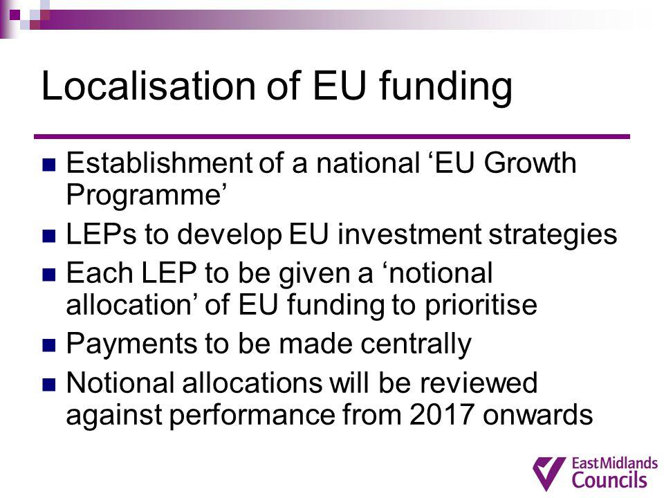 Localisation of EU funding
