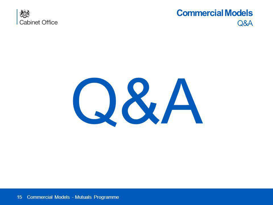 Q&A Commercial Models Q&A Commercial Models - Mutuals Programme