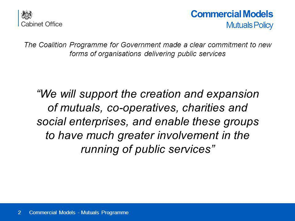Commercial Models Mutuals Policy