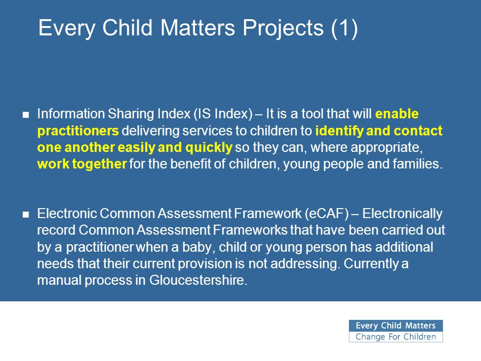 Every Child Matters Projects (1)