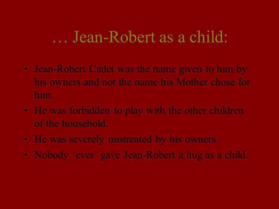 … Jean-Robert as a child: