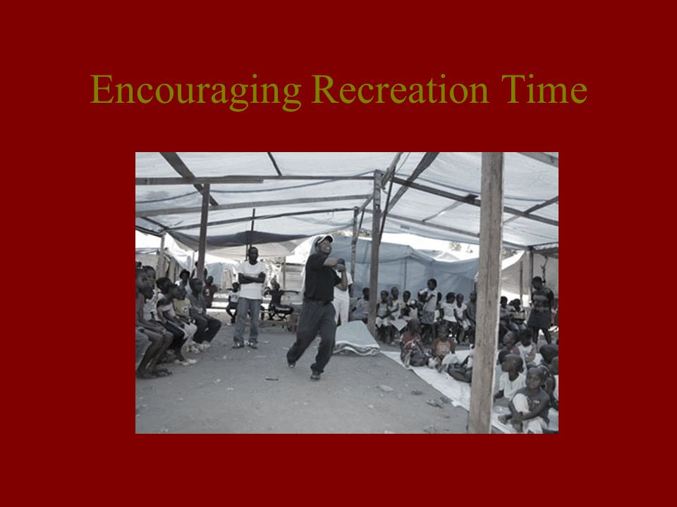 Encouraging Recreation Time