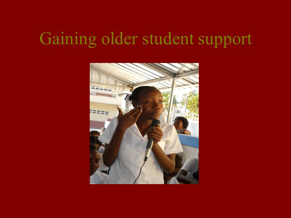 Gaining older student support