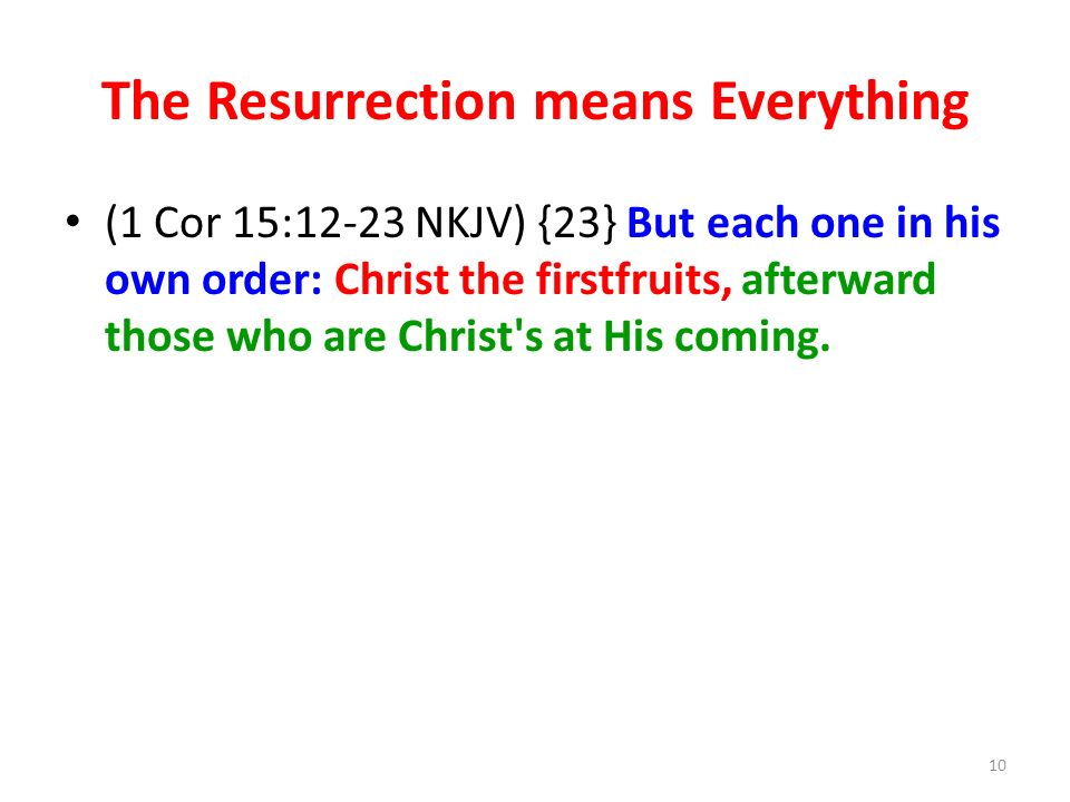 The Resurrection means Everything