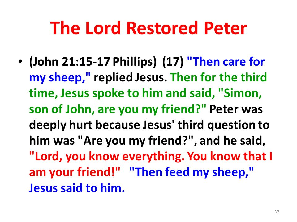 The Lord Restored Peter