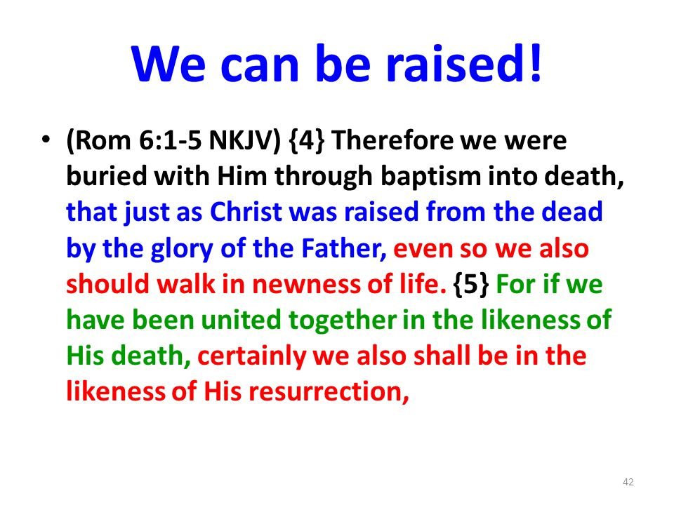 We can be raised!