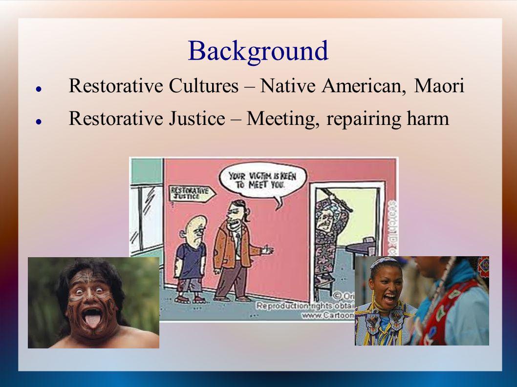 Background Restorative Cultures – Native American, Maori