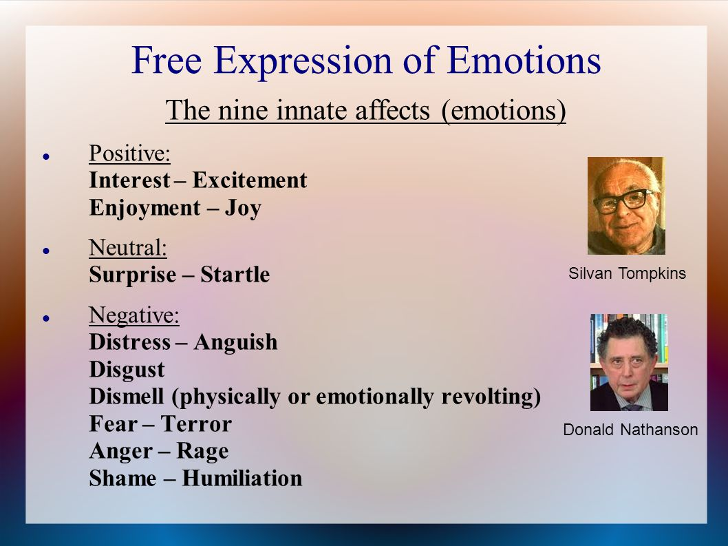Free Expression of Emotions