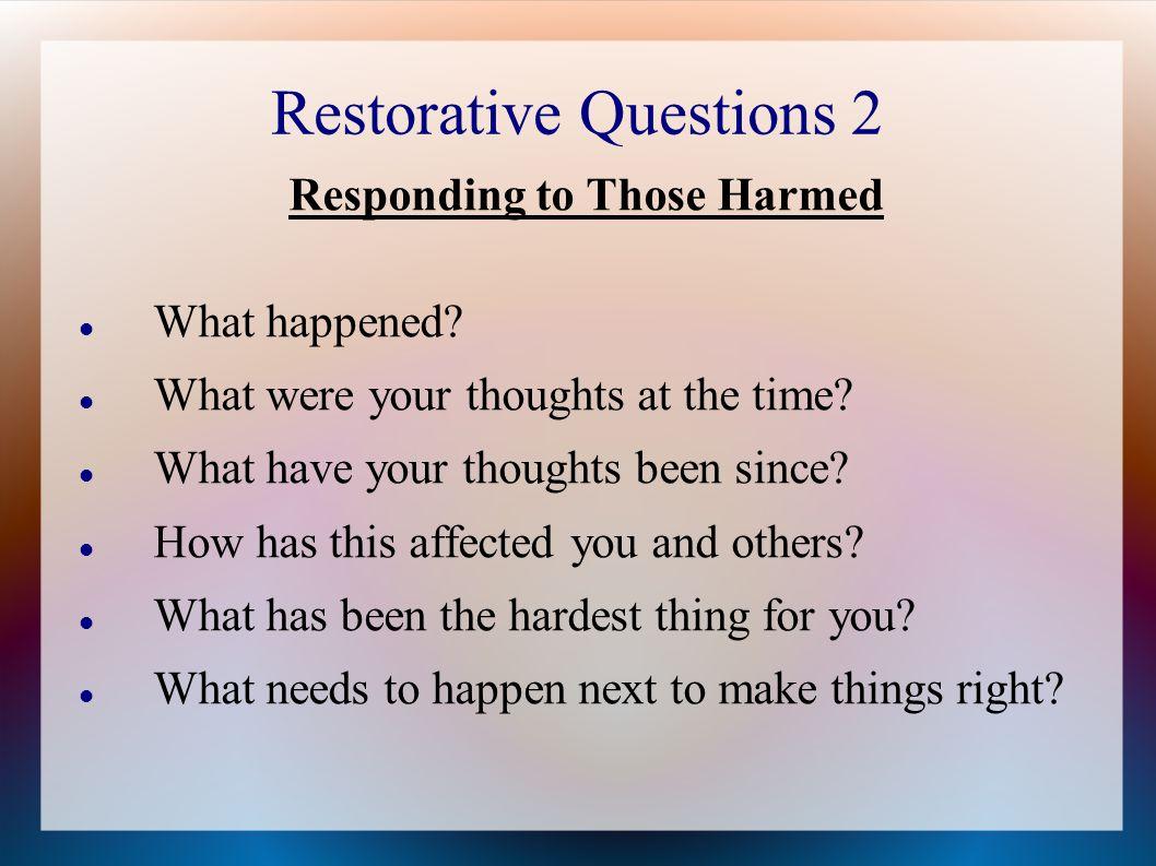 Restorative Questions 2