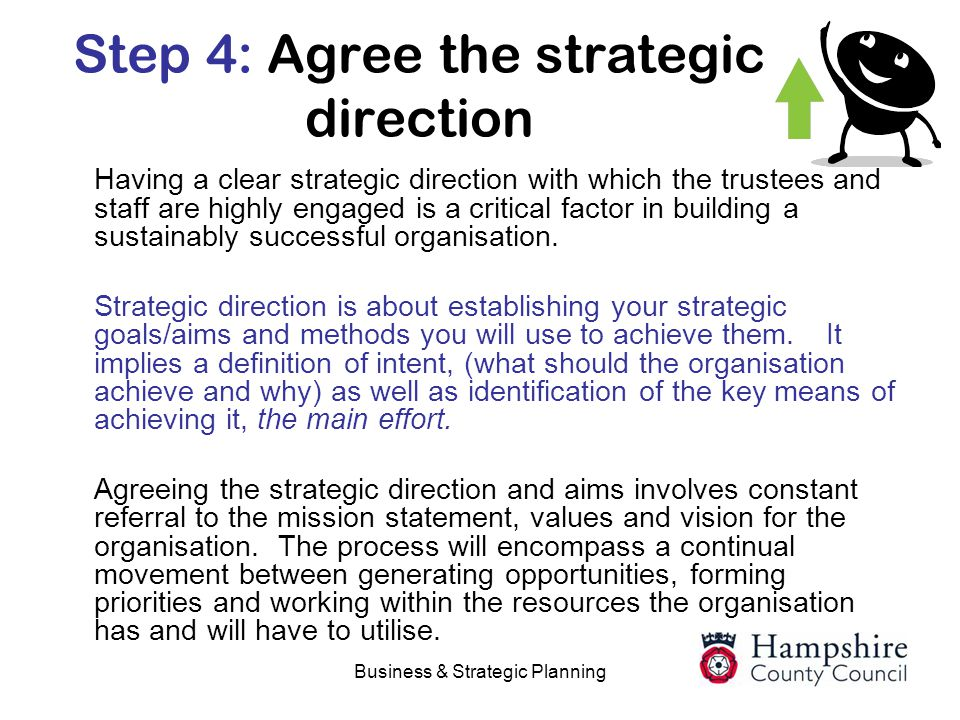 Step 4: Agree the strategic direction
