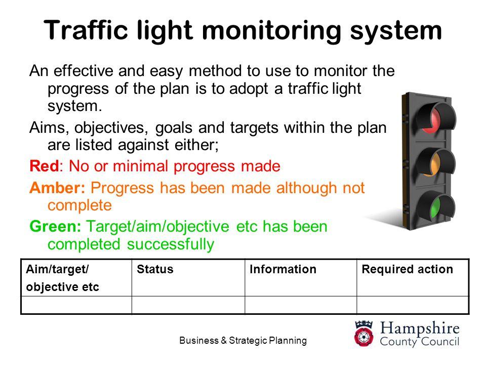 Traffic light monitoring system