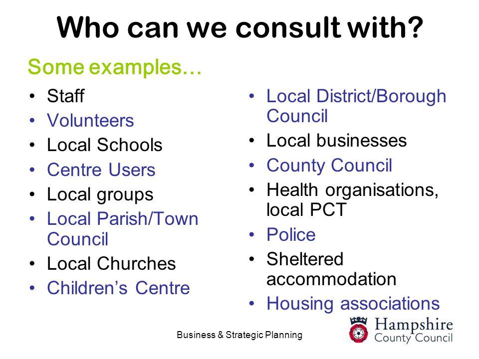 Business & Strategic Planning
