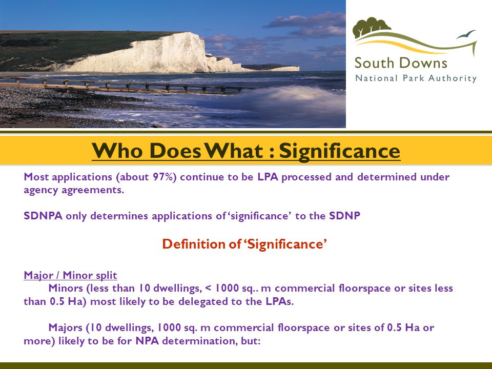 Who Does What : Significance Definition of 'Significance'