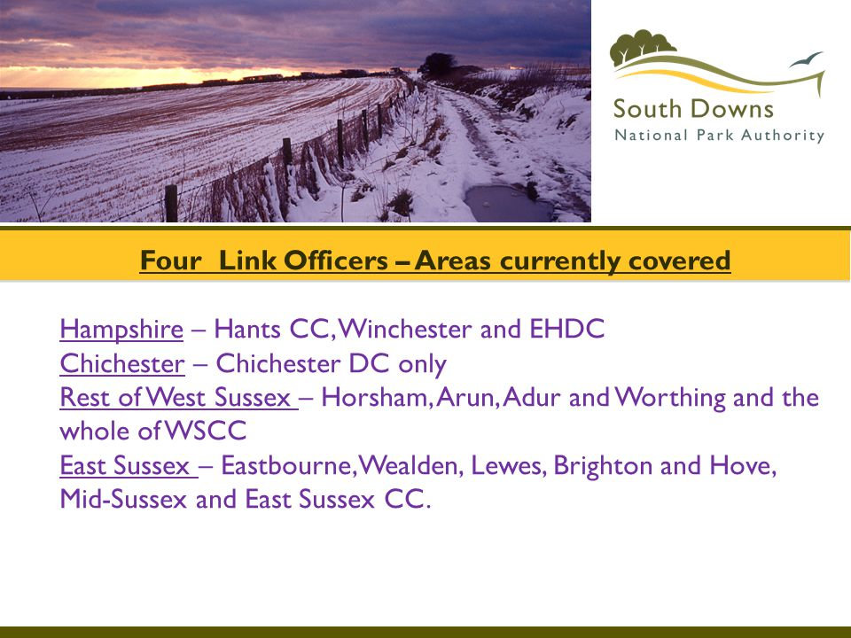 Four Link Officers – Areas currently covered