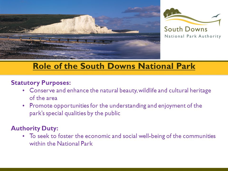 Role of the South Downs National Park
