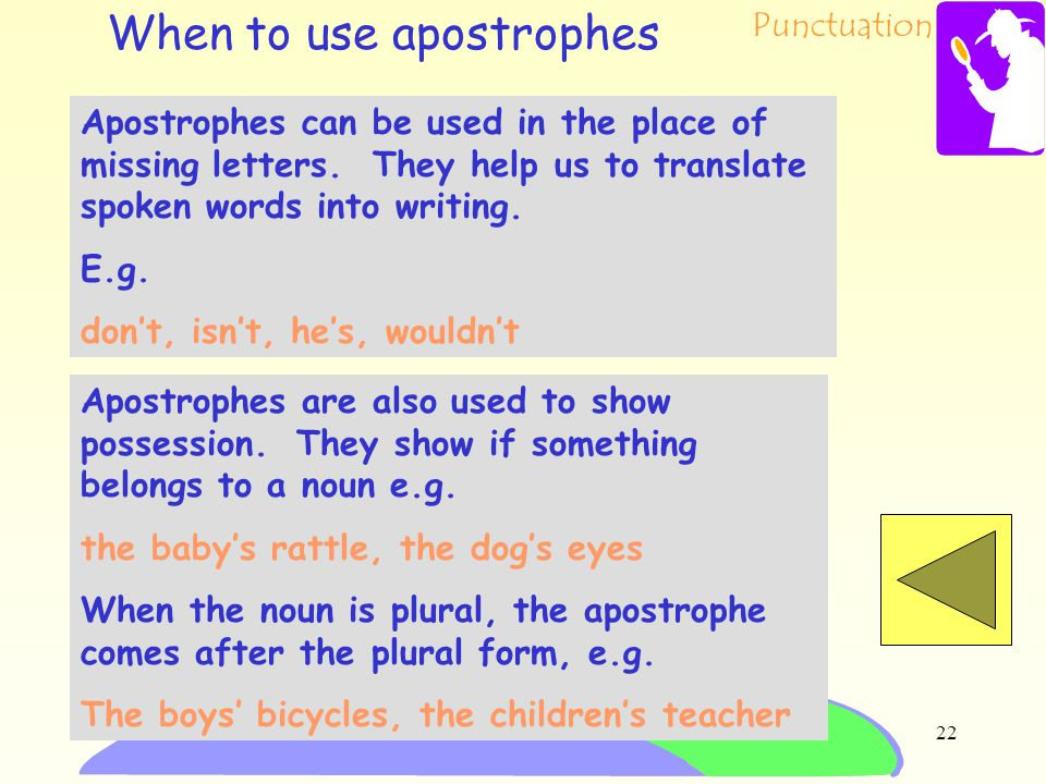 When to use apostrophes