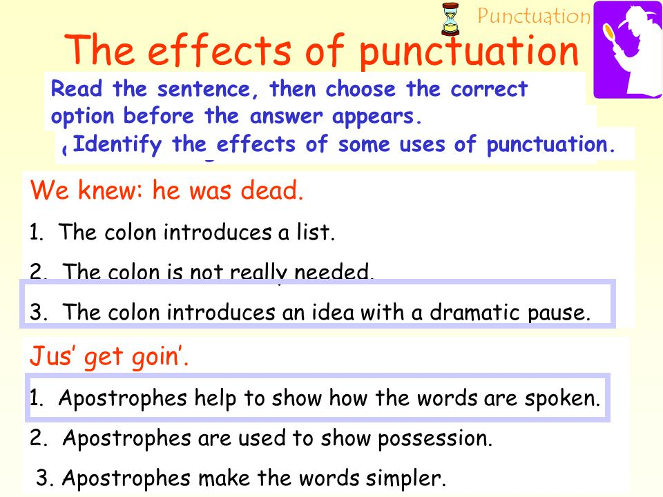 The effects of punctuation