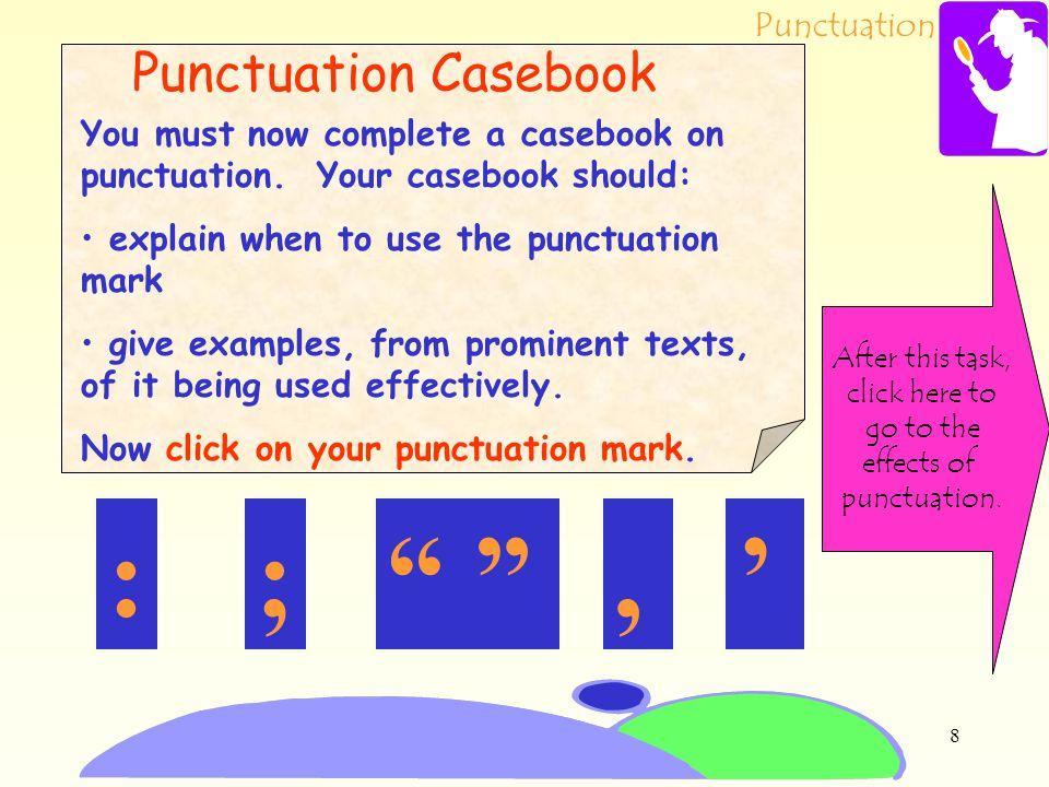 : ; , ' Punctuation Casebook