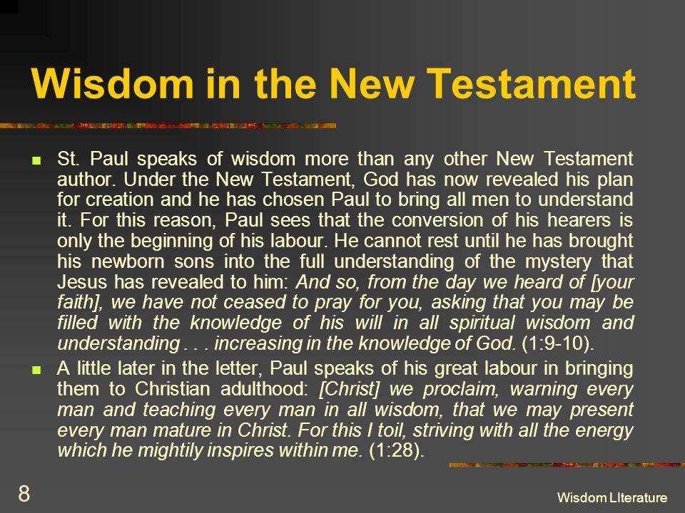 Wisdom in the New Testament