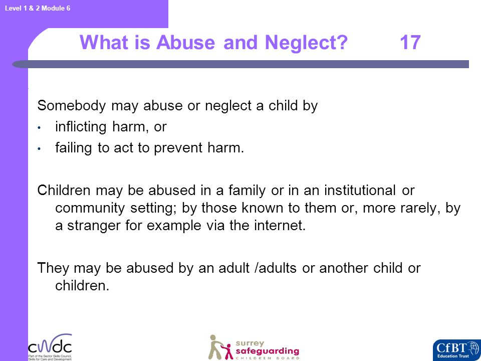 Categories of Abuse and Neglect 18