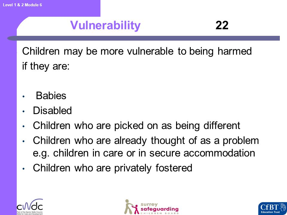 Additional Indicators for Disabled Children 23