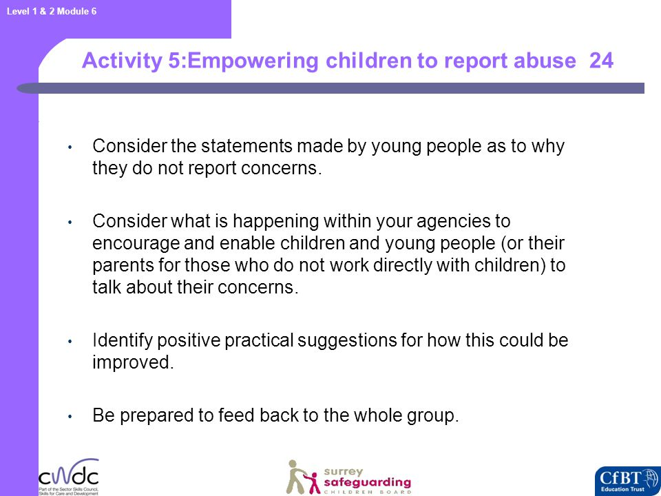 : Factors that stop children reporting abuse and accessing help