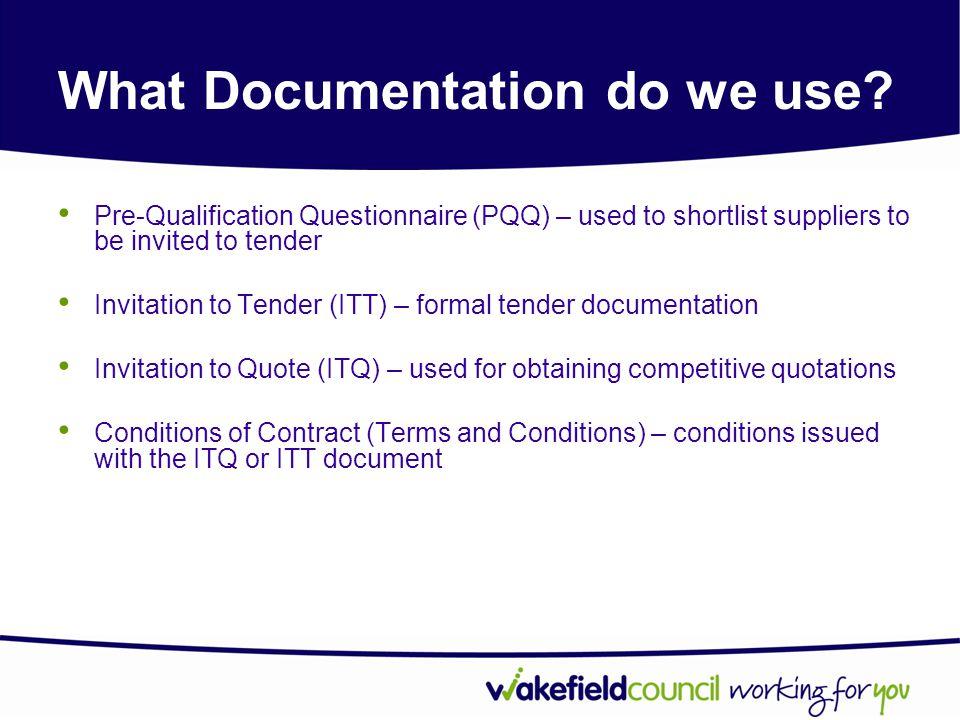 What Documentation do we use