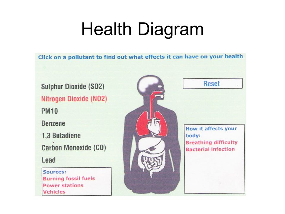 Health Diagram Refer to c:drive then can do interactively.
