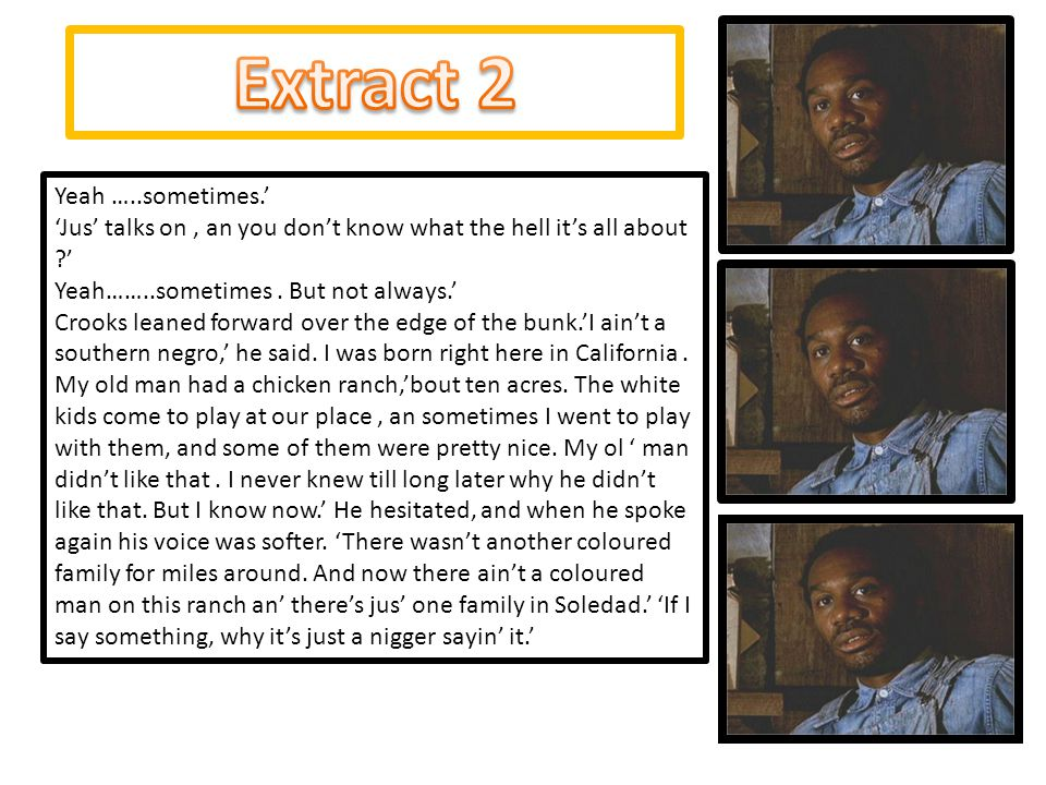 Extract 2 Yeah …..sometimes.'
