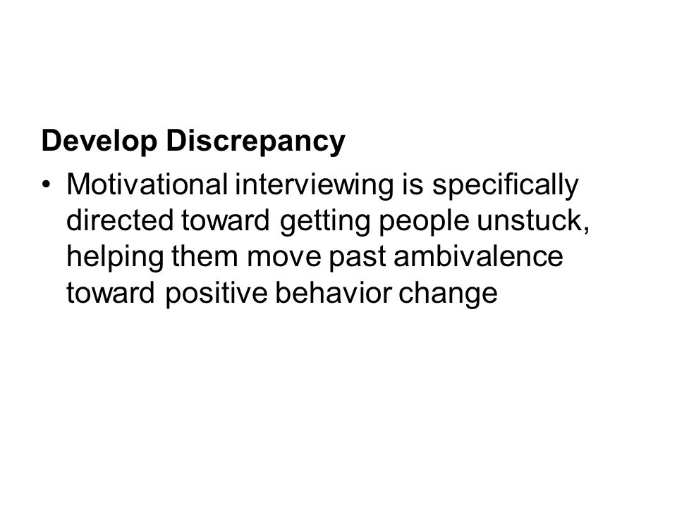Develop Discrepancy