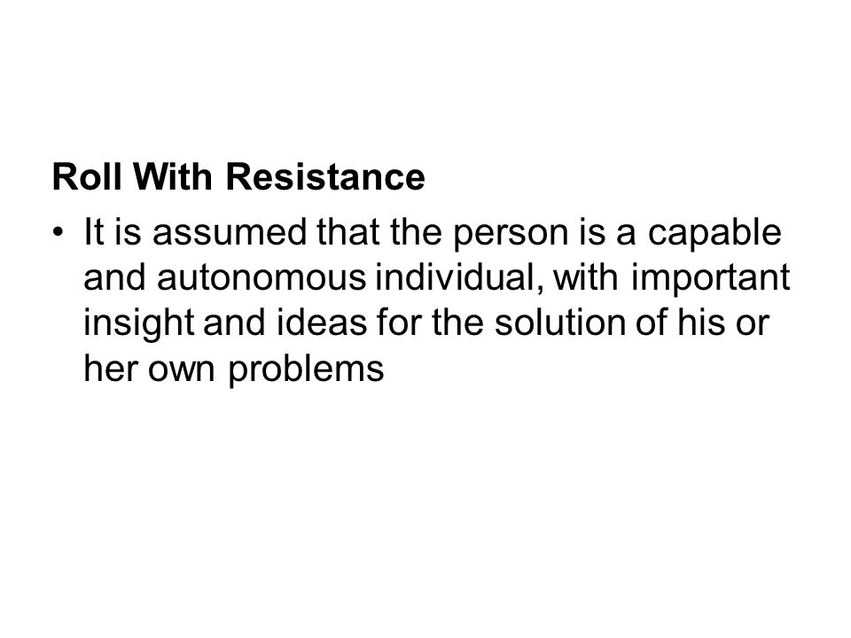 Roll With Resistance