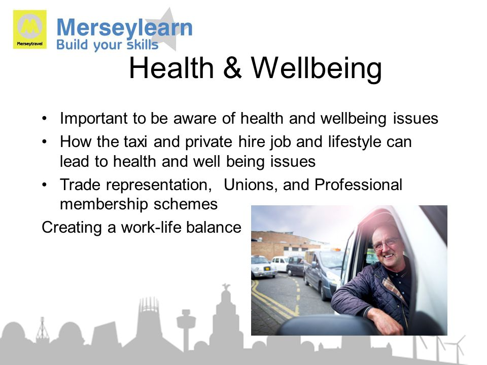 Health & Wellbeing Important to be aware of health and wellbeing issues.