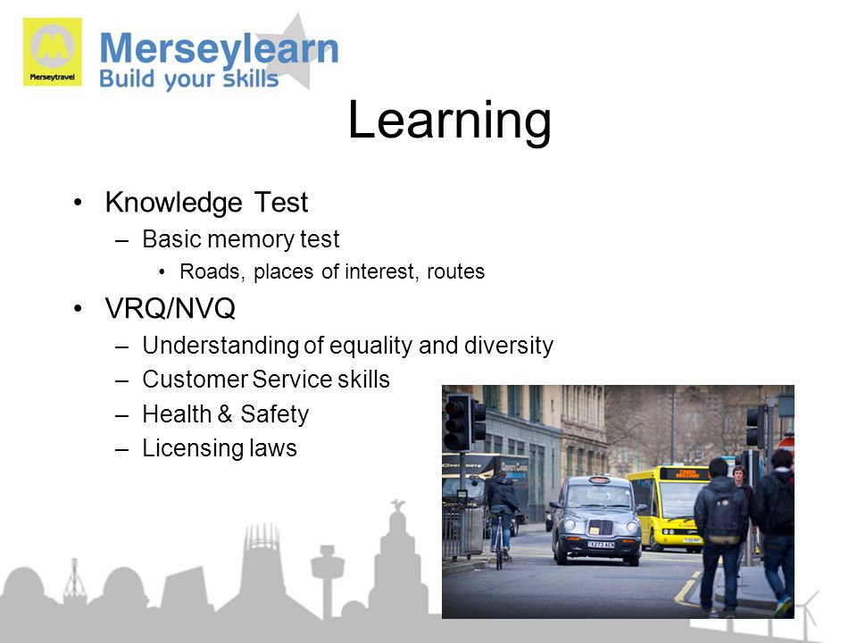 Learning Knowledge Test VRQ/NVQ Basic memory test