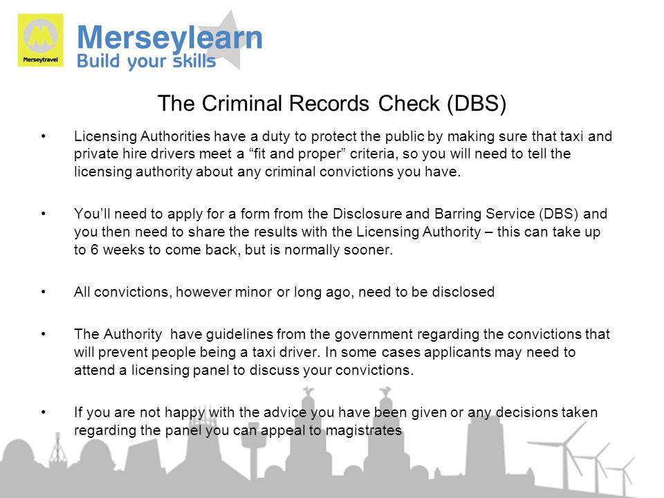 The Criminal Records Check (DBS)