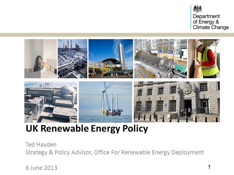 UK Renewable Energy Policy