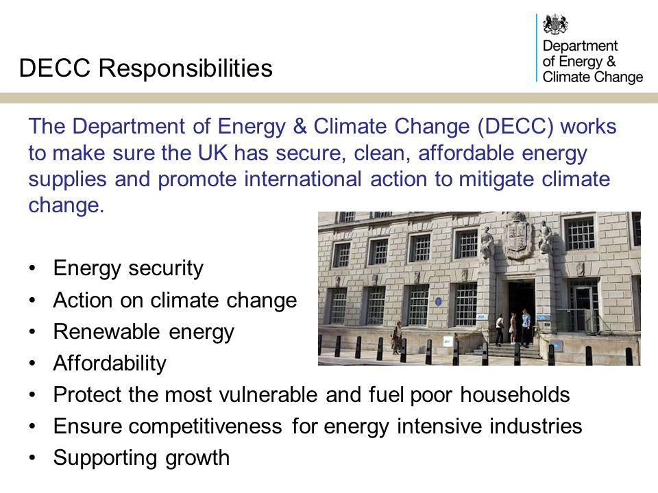 DECC Responsibilities