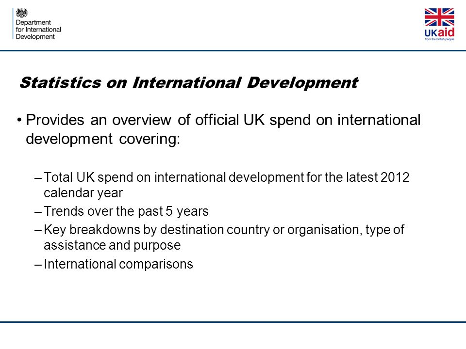 Statistics on International Development