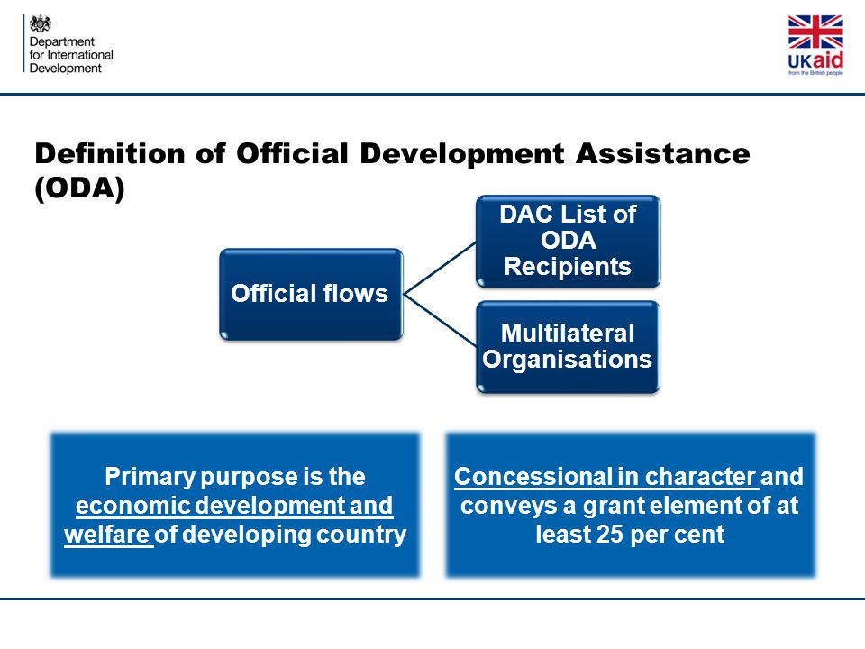 Definition of Official Development Assistance (ODA)