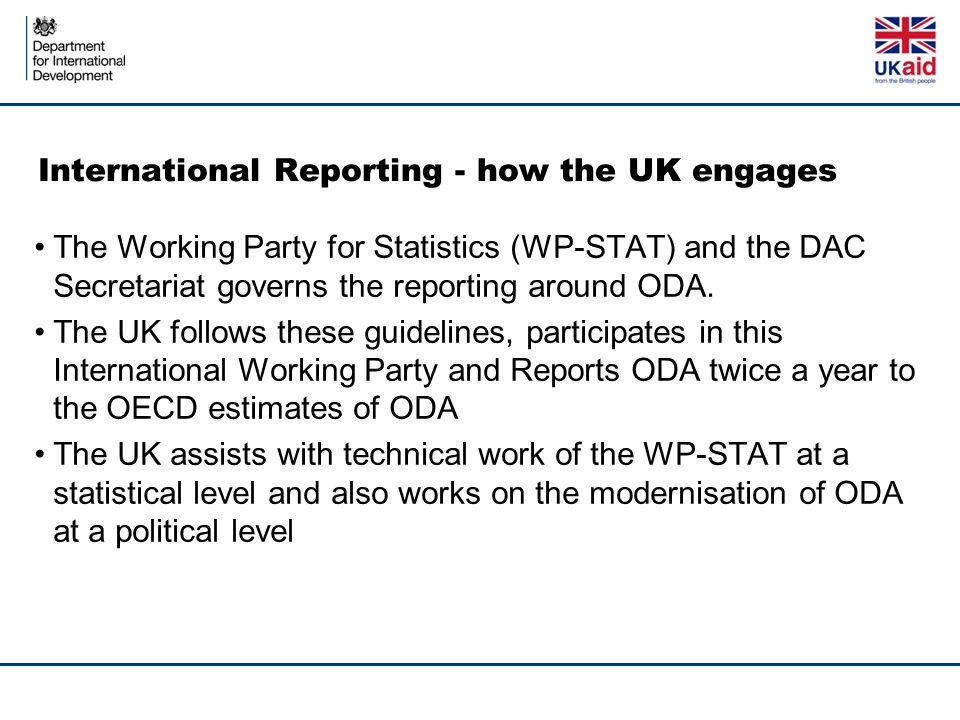 International Reporting - how the UK engages