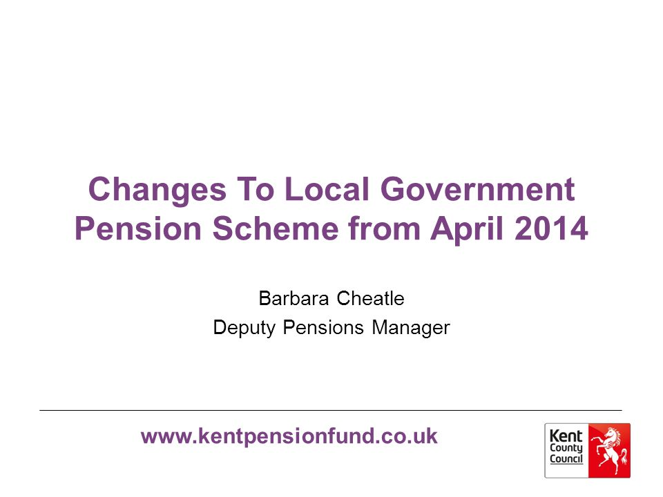 Changes To Local Government Pension Scheme from April 2014