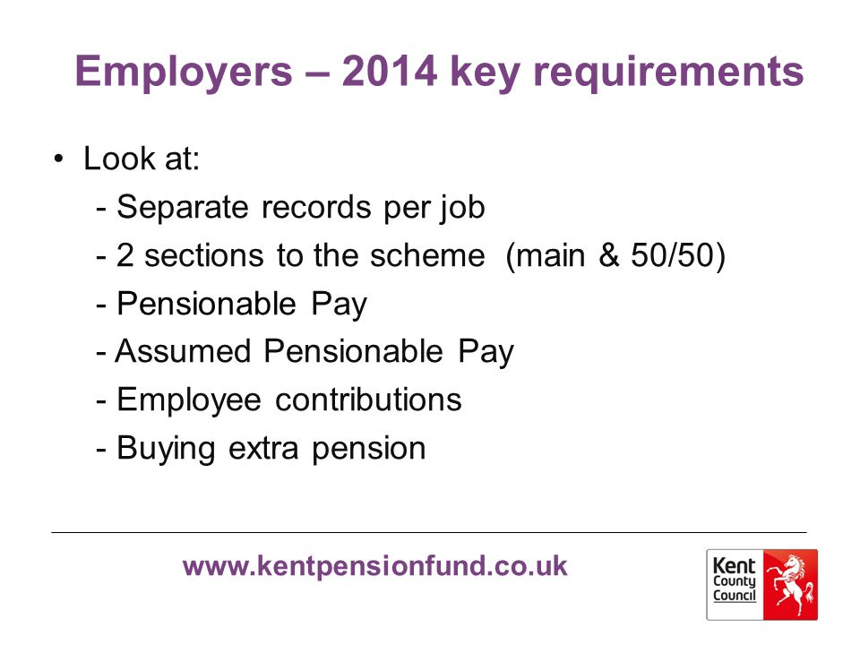 Employers – 2014 key requirements