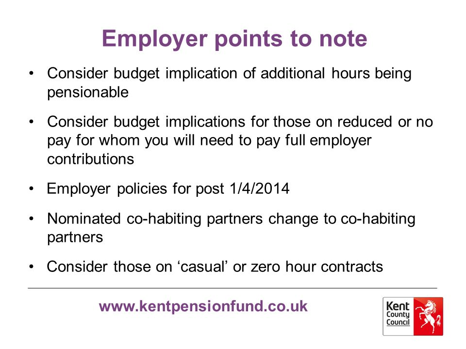 Employer points to note