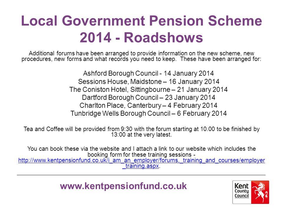 Local Government Pension Scheme 2014 - Roadshows