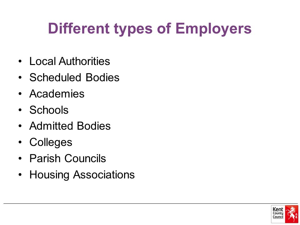 Different types of Employers